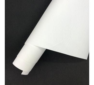 Кожзам (экокожа) на полиуретановой основе с тиснением мантуя (мятая кожа), цвет белый, арт. SC420067