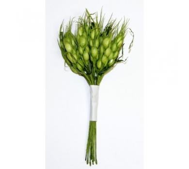 Декоративный букетик  колоски, зеленый, DKB032F
