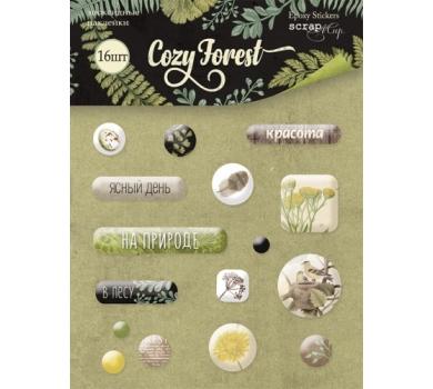 Набор эпоксидных наклеек Cozy Forest, 16 элементов, SM3700015