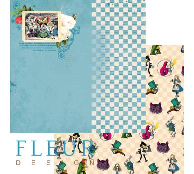 Лист бумаги для скрапбукинга Игра, коллекция В стране чудес, арт. FD1005204