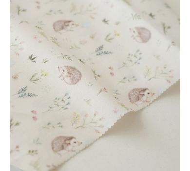 Отрез ткани Forest story Ёжики в цветах, арт. IMD-005-01