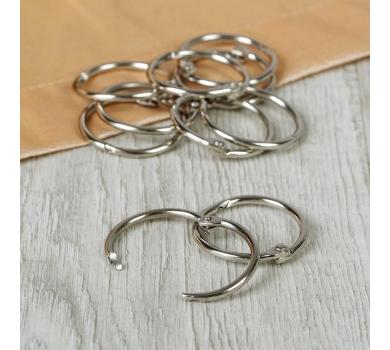 Кольца для альбомов, цвет серебро, арт. SCB2504125
