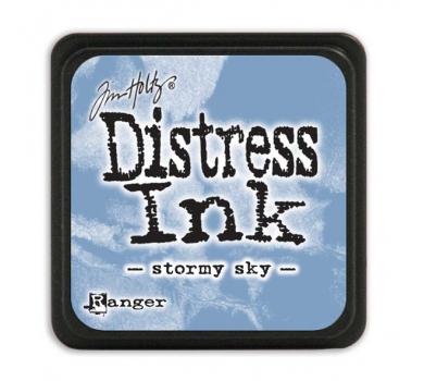 Штемпельная мини-подушечка Tim Holtz Distress Mini Ink Pads на водной основе, цвет штормовое небо, арт. RI40217