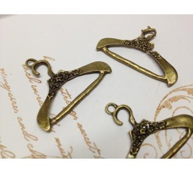 Металлическое украшение Тремпель, цвет бронза, 2,5х3,5 см, KA10011