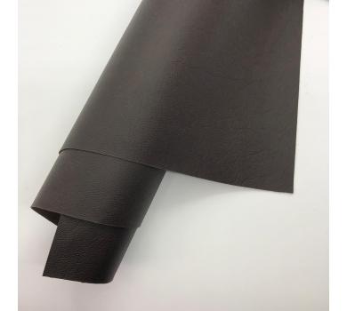 Кожзам (экокожа) на полиуретановой основе с тиснением мантуя (мятая кожа), цвет брауни, арт. SC420069