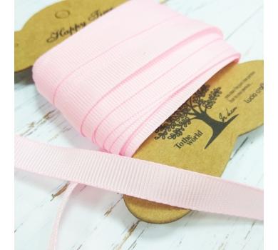 Лента репсовая, цвет Розовый, 1м, 2607p