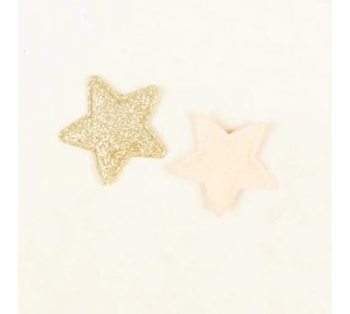 Патч (нашивка) с глиттером Золотая звезда, 1 шт., арт. 1948010