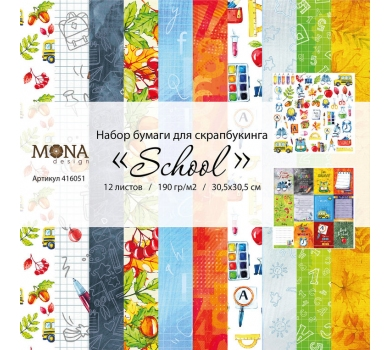 Набор бумаги School,  MD416051