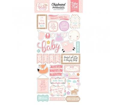 Набор чипборда на клеевой основе Hello Baby Girl Phrases, 171022