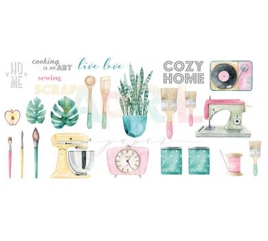 """Набор высечек """"Cozy home"""", 26 элементов, плотность 190г/м, home-008-04"""