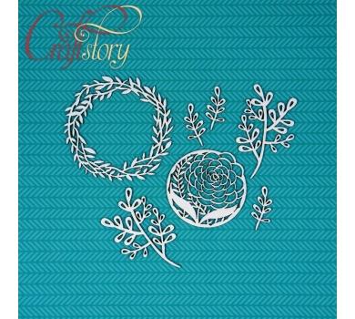 Чипборд Растительный венок, арт. 505027