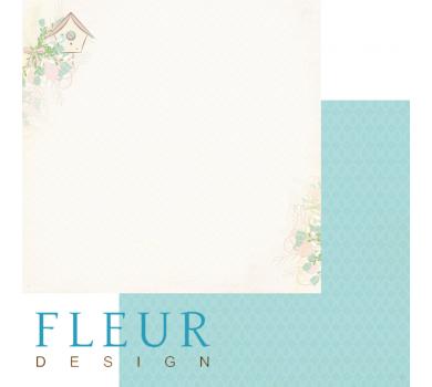 Лист бумаги для скрапбукинга Скворечник, коллекция Зарисовки весны, арт. FD1003602