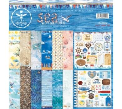 Набор двухсторонней бумаги для скрапбукинга Sea adventure, арт 100200