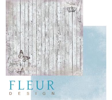 Лист бумаги для скрапбукинга Старый забор, коллекция, Цветы прованса, арт. FD1003803