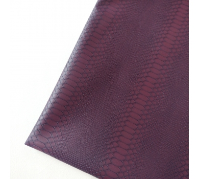 Кожзам с тиснением под рептилию, фиолетовый, арт. KA400803