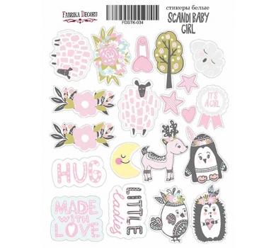 Набор наклеек (стикеров) Scandi Baby Girl, 21x16 см, FDSTK-034