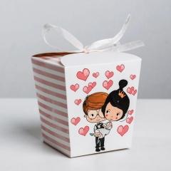 Коробка-бонбоньерка подарочная Люблю тебя, арт. 3898173