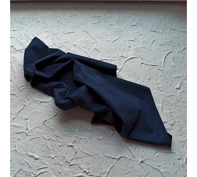 Искусственная замша двусторонняя, цвет темно-синий, арт. 401626