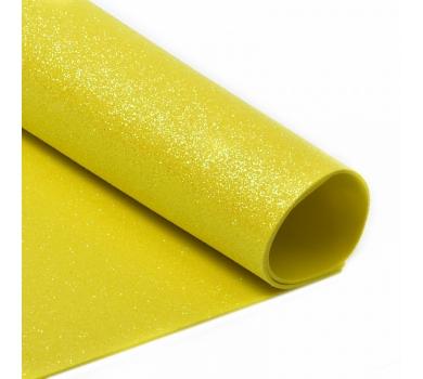 Глиттерный фоамиран желтый, арт. H047