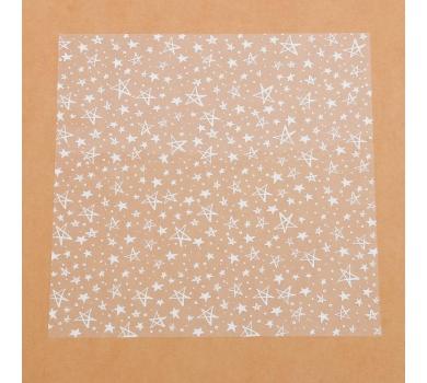 Прозрачный ацетатный лист Белые звезды, 3727216