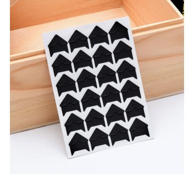 Набор уголков для фото на клеевой основе, цвет черный, арт. 131101