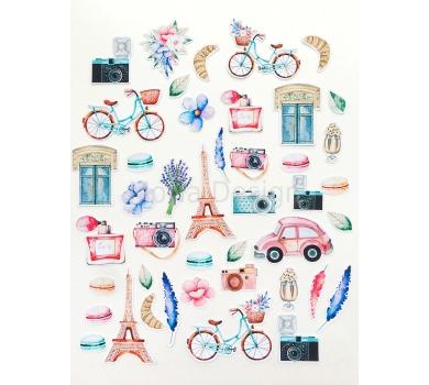 Набор высечек Однажды в Париже, 43 элемента, плотность 220гр/м, MD83207