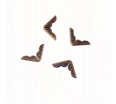 Металлический уголок ажурный, цвет бронза, 1 шт., 180831