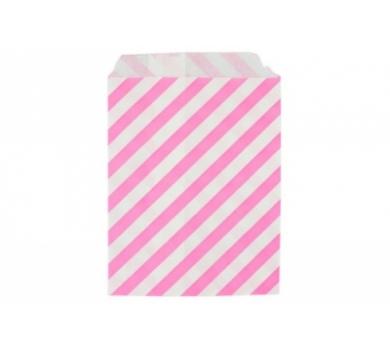Бумажный пакет Розовая полоска, DA040203