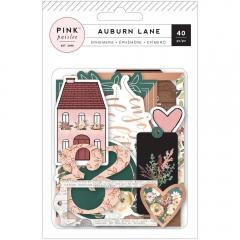 Набор высечек с фольгированием Auburn Lane Ephemera Cardstock, 310678