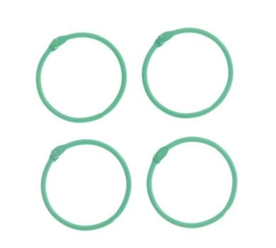 Кольца для альбомов, цвет зеленый, арт. 2587238