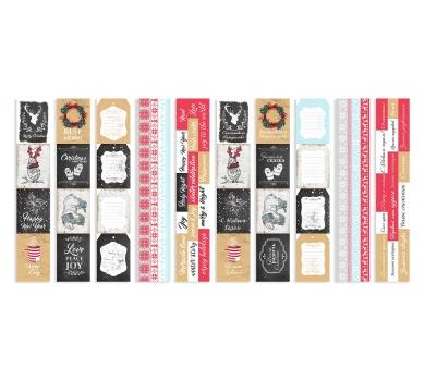Набор полос с картинками для декорирования Christmas fairytales, 5х30.5 см, 200 гр/м2, 01039
