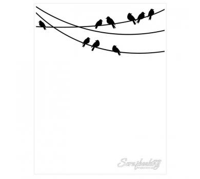 Папка для тиснения Птицы на проводе 1218-53