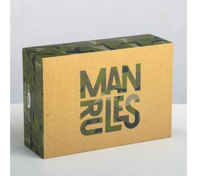 Коробка подарочная Man rules, арт. 3924794