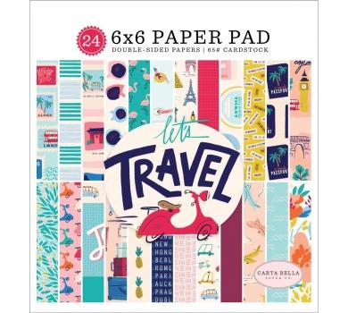 Набор двусторонней бумаги Let's Travel, 100023
