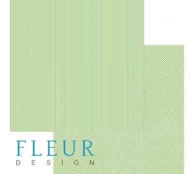 Лист бумаги для скрапбукинга Светлая зелень, коллекция Чисто и просто Базовая, арт. FD1003503