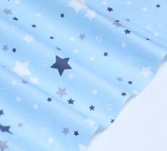 Отрез ткани Звезды на голубом, арт. 125804
