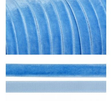 Лента бархатная, цвет голубой, lb1083