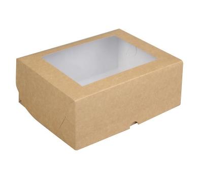 Коробка подарочная из крафт-картона с окошком, арт. 3639334