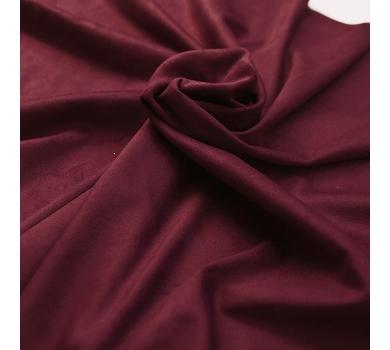 Искусственная замша двусторонняя, цвет бордовый, арт. 411628