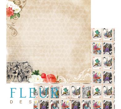 Лист бумаги для скрапбукинга История, коллекция В стране чудес, арт. FD1005203