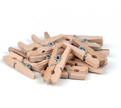 Прищепка деревянная натуральная, 2.5 см, 1 шт, 26121507