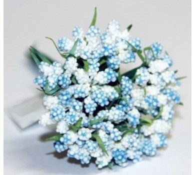 Декоративный букетик светло-голубой, DKB028J
