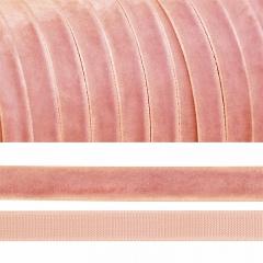 Лента бархатная, цвет персиковый, lb1076