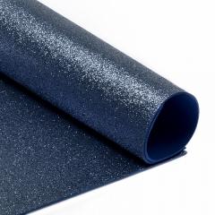 Глиттерный фоамиран темно-синий, арт. H021