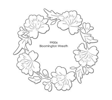Нож для вырубки Bloomington Wreath 99006