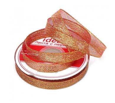 Лента парчовая, цвет красный с золотом, арт. 03390-12