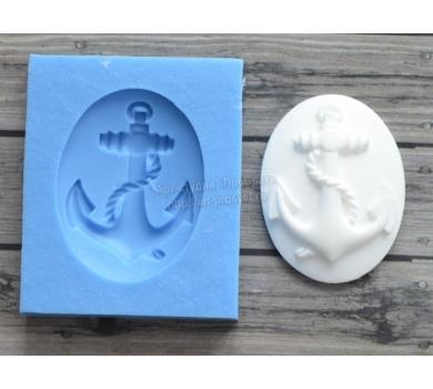 "Молд камеи ""Якорь"", размер 2,9х3,8 см, ARTMC0084"