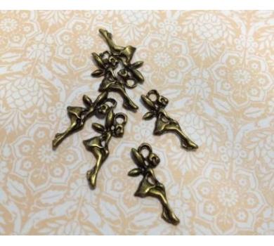 Подвеска металлическая Маленький эльф, цвет бронза, 1,5 см, KA10064