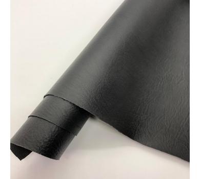 Кожзам (экокожа) на полиуретановой основе с тиснением мантуя (мятая кожа), цвет черный, арт. SC400071
