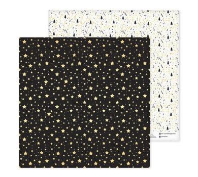 Лист бумаги для скрапбукинга Снежинки, коллекция Magic year, 30.5х30.5 см, 180 гр/м, арт. 2576320